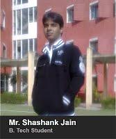 Mr. Shashank Jain. B.Tech. 2013