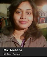 Ms. Archana - M. Tech. 2013