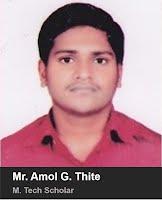 Mr. Amol G. Thite- M.Tech 2015