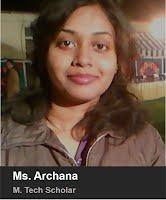 Ms. Archana - M. Tech. 2013