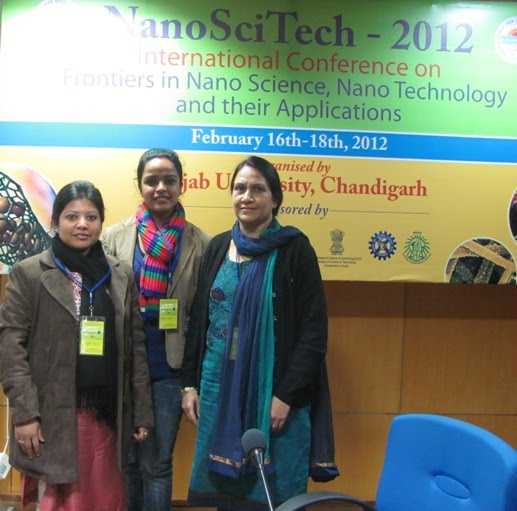 (R-L) Prof. Manjeet Jassal, Ms. Nidhi Goyal and Ms. Sangita Paul